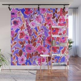 Isla Floral Purple Wall Mural