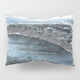 PROVINCETOWN MASSACHUSETTS city old map Father Day art print poster Pillow Sham
