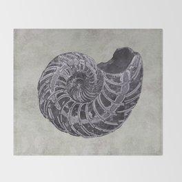 Ammonite study Throw Blanket