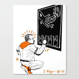 KEITH - Orange Canvas Print