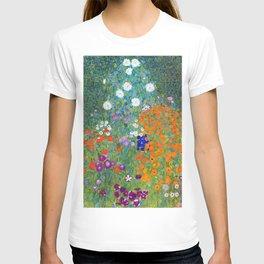 Gustav Klimt - Cottage Garden T-shirt