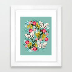 Buckeye Butterly Florals by Andrea Lauren  Framed Art Print