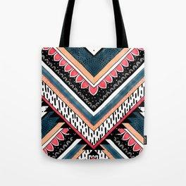 Tribal Geometric Chevron Tote Bag