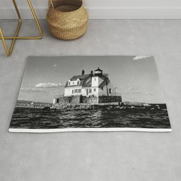 Rockland Harbor Breakwater Lighthouse  Rug