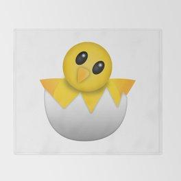 Hatching baby chick Emoji Throw Blanket