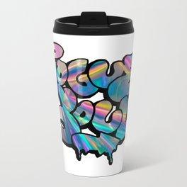 """Rogue Soul"" Hologram Design Metal Travel Mug"