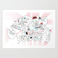 circus Art Prints featuring CIRCUS by Vanja Cankovic