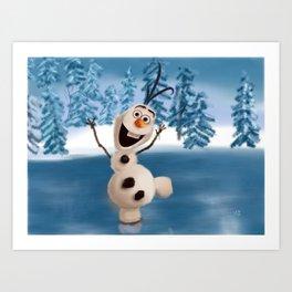 Olaf the Snowman Art Print