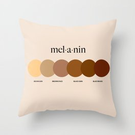 melanin Throw Pillow