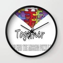 Together we can find the missing puzzle piece Wall Clock