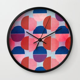 Geometric Abstract Half Round Pattern Wall Clock