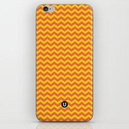 U14: sunset chevron iPhone Skin
