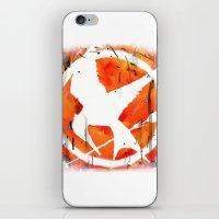 mockingjay iPhone & iPod Skins featuring The Mockingjay by Trinity Bennett