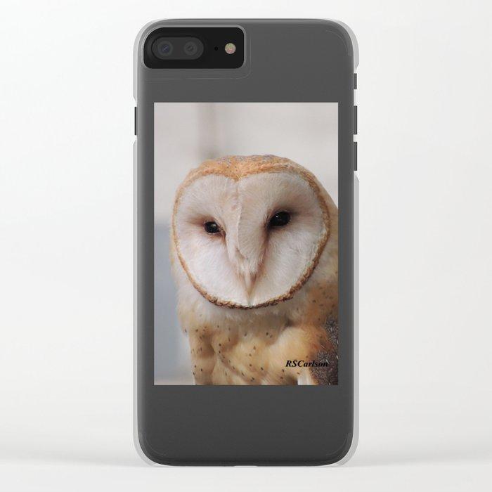 Barn Owl on Alert Clear iPhone Case