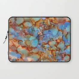 Evening in Autumn - Alcohol ink painting Laptop Sleeve