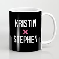 stephen king Mugs featuring KRISTIN + STEPHEN by EXO Design