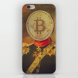 "Bit Coin Fanatic General | ""So Let Me Tell You About My Coin Base"" iPhone Skin"