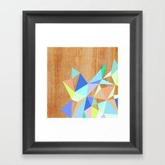Wooden Geo Aqua Framed Art Print