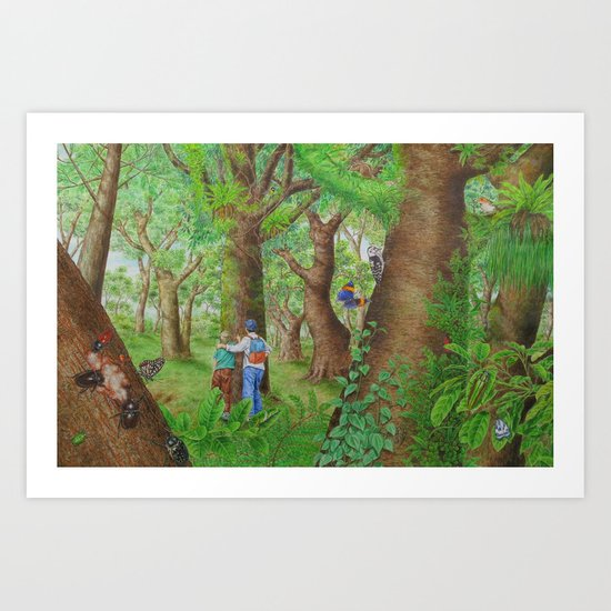 A Day of Forest (3). (Observe the tree) Art Print