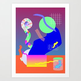 Science Party Art Print