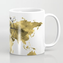 Gold World Map 2 Coffee Mug