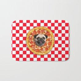 Pug Lover Pizza Bath Mat