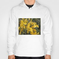 marc johns Hoodies featuring Beautiful St Johns Wort by Wendy Townrow