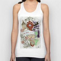 fear and loathing Tank Tops featuring Fear and Loathing Print by Just Bailey Designs