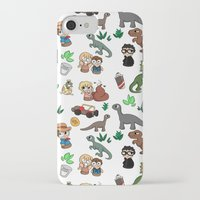 jurassic park iPhone & iPod Cases featuring Jurassic Park Bits by Lacey Simpson