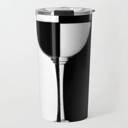 Background of black and white glass Travel Mug