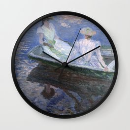 1887-Claude Monet-On the Boat-133 x 145 Wall Clock