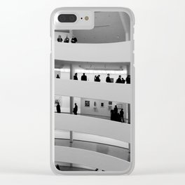 People at Guggenheim Museum Clear iPhone Case