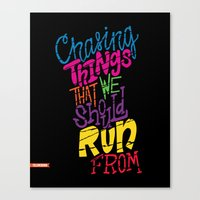 chvrches Canvas Prints featuring Chasing by Chelsea Herrick