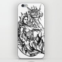 beauty and the beast iPhone & iPod Skins featuring Beauty and the beast by misscrocodile63/drawings/photo/paintings