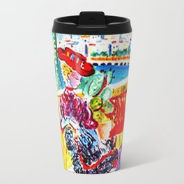 Vintage Menton France Travel Travel Mug