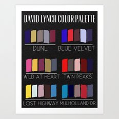 David Lynch Color Palette Art Print