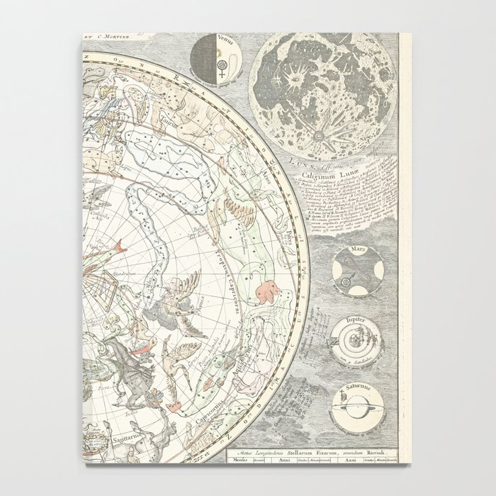 Star map of the Southern Starry Sky Notebook