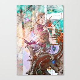 Kali Uchis Collage Canvas Print