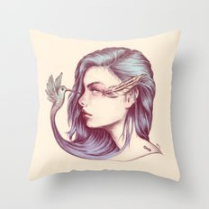 Look Life in the Face Throw Pillow