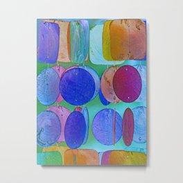 Circles & Squares Pattern I Metal Print