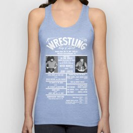 #16-B Memphis Wrestling Window Card Unisex Tank Top
