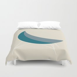 Blue Coconut Chair by George Nelson Duvet Cover