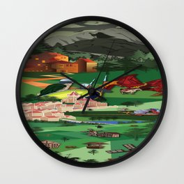A Medieval Landscape Wall Clock