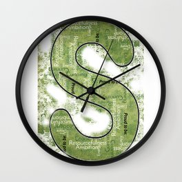 "Proud to be ""S"" Wall Clock"
