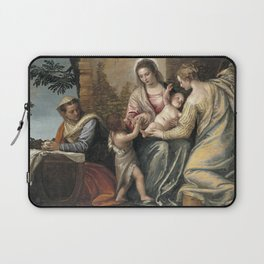 Paolo Veronese - Madonna and Child with St Elizabeth, the Infant St John the Baptist Laptop Sleeve