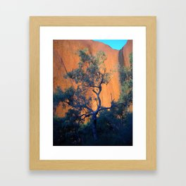 Uluru mid-morning Framed Art Print