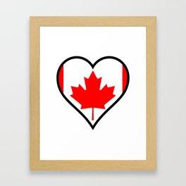 Love Canada Framed Art Print