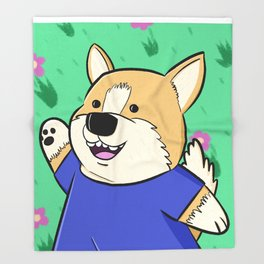 Corg Pal Throw Blanket