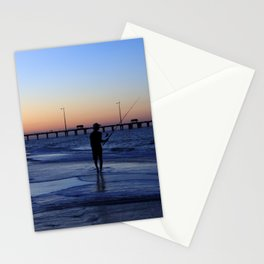Surf Fishing Outer Banks Stationery Cards