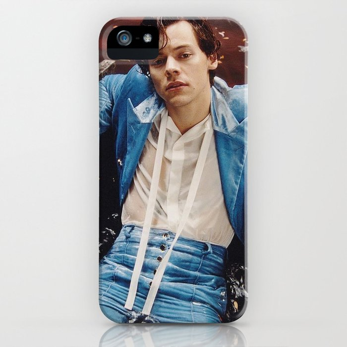 harry in blue suit iphone case